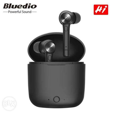 Bluedio HI wireless earphone bluetooth with charging box built-in mic
