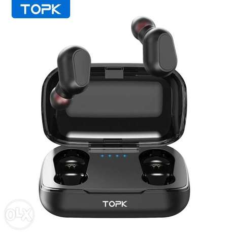 TOPK Wireless headphones TWS Bluetooth v5.0 LED Display Bluetooth Earp