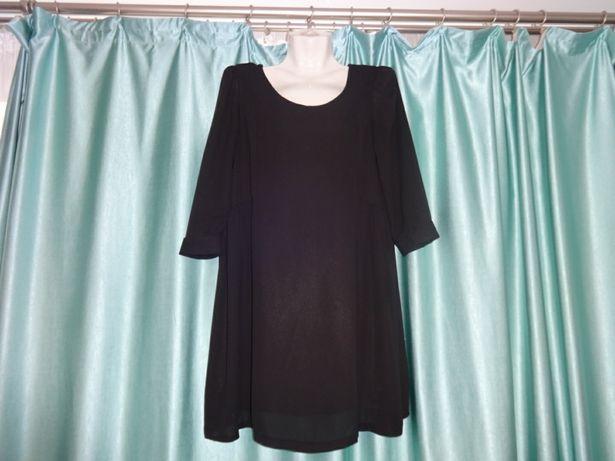 38fc9dd31b11 Свободное просторное черное туника платье для беременных Запорожье -  изображение 1