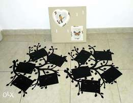 Photo hangers, wall mounted decorative photo frames