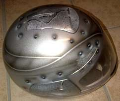 Newly airbrushed helmet