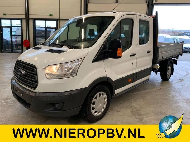 Ford transit 130 pk dub cab pickup 3 zijdige kieper airco 7 pe... - 2019
