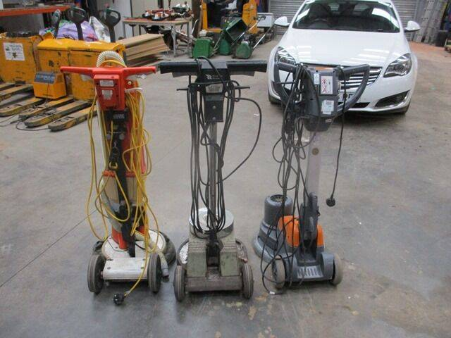 Floor 3 X  BUFFERS 240V power trowel for sale by auction