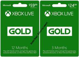 Xbox Live Gold, Gift Cards Wallet Top ups And EA Access
