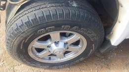 MAGS AND TYRES GWM, 16R 235/70 AND 215/75 15R 6HOLES