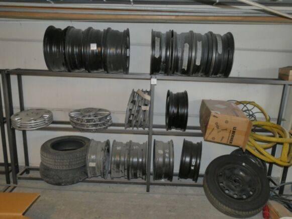 Sale rim rack, steel rims forklift wheel disk for  by auction