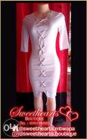 Lace up pencil dress. Available now for only 1499/=