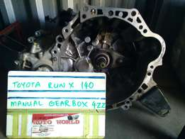 Toyota RunX 140 4ZZ Manual Gearbox For Sale