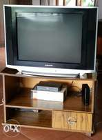 Samsung TV with remote and stand