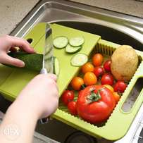 Over the Sink Colander & Cutting Board