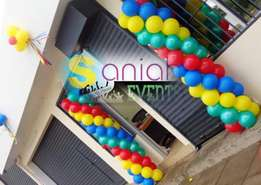 Balloon arch,balloon pillar and balloon decoration.