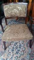 Antique mahogany and gold parlour chair