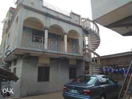Spacious 3bedroom flat up with separate stair case 3 toilets at Igando