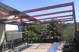 Carports , sliding gates , palisades , steel work