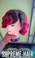 Brunette and mixed color hair wigs
