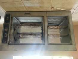 Industrial chicken rotisserie oven