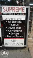 C.O. C for Plumbing and Electrical