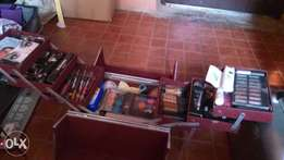 Fairly used Makeup box with Products for Sale