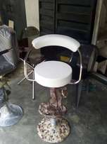 Leather bar stool wite
