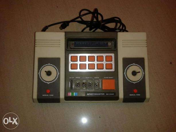 vintage pong video game console