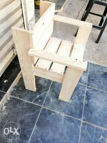 Wood chair Creative simple style كرسي خشب جديد
