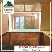 77 SQM at Greece !! Located in Kipseli for 98,000€ ONLY!!