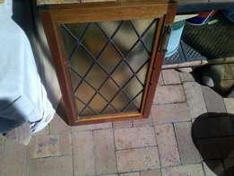 solid meranti lead stained glass windows for sale