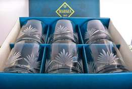 Reduced Bohemia Crystal glasses set of 6 in original box never used.