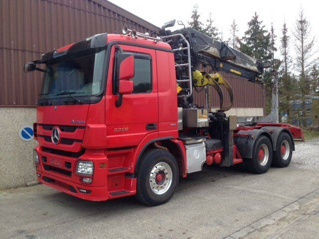Mercedes-Benz ACTROS 3360 6X4 + HIAB 251S80 WOOD TRANSPORT - 2013