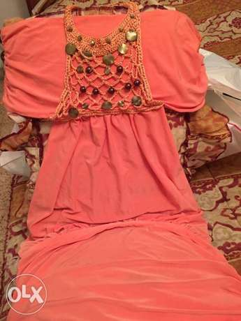 Pink orange wonderful dress. size small فستان زهري أشرفية -  1