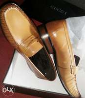 Brown Gucci Loafers
