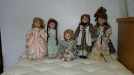 5x Porcelain Dolls - Unwanted Gift