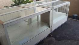 Make up counters with glass