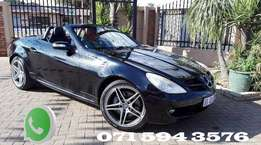 Mercedes SLK 350 with AMG mags.
