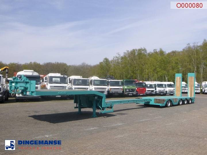 Nooteboom Semi-lowbed trailer extendable 15.6 m + ramps - 2009