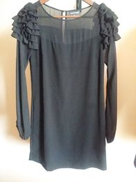 46ca06fe22 Czarna sukienka mała czarna elegancka WAREHOUSE XS S