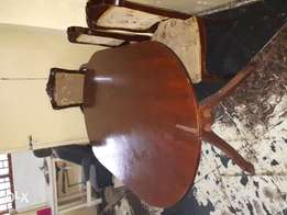 Used Dinning table +3 antique chairs