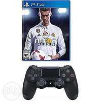 PS4 FIFA 18 + PS4 Dual Shock Wireless Controller Pad
