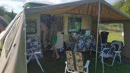 Rally tent for Romany