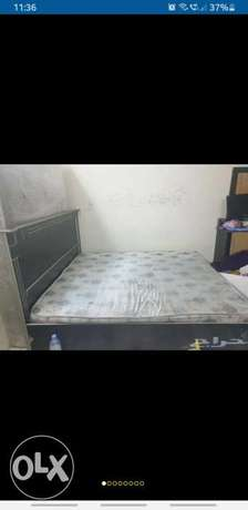 Double bed with mattress &dressing table