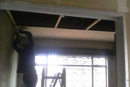 ceiling plumbing and building works