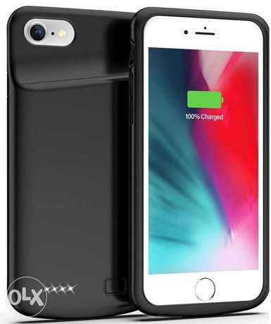 Battery Case for iPhone 8/7, 4500mAh Charging Case جراب شاحن آيفون