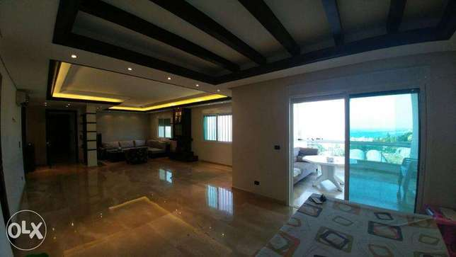 Zouk mikael 220m2- super luxurious-panoramic sea view-partly furnished ذوق مكايل -  6