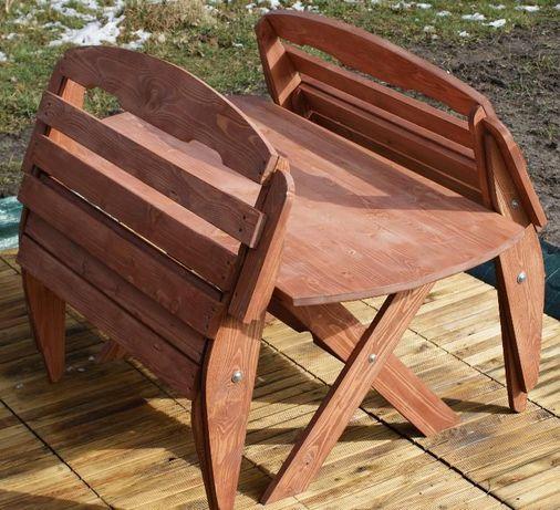 Meble Ogrodowe Drewniane Składane Stół Krzesła ławka Od