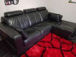 """Genuine Leather """"L"""" Shape Couch for Sale"""