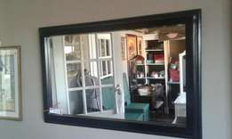 Mirror with thick frame