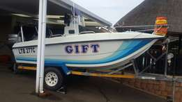 16 foot Invader full house 2 x 40 mariners/canopy and live bait well