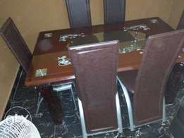 Exotic-Six Sitter Quality Glass Dining Table (New)