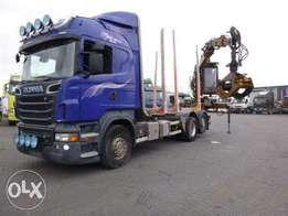 Scania R730 6x2 Timber Truck With Crane Retarder Euro 5 - For Import