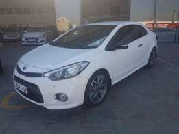 Kia Cerato KOUP 1.6T GDi Automatic 2015, White, 2-Door. Immaculate!